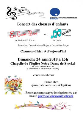 Concert enfants 24 juin 18